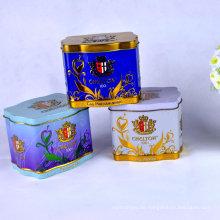 Kundenspezifische Farbe Export Square Tea Tin Box für Geschenk