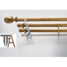 Wood Curtain Pipe & Triple Curtain Rod (curtain track)