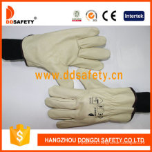Pig Grain Leather Driver Gloves