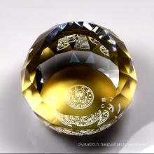 Presse-papier en cristal imprimé par logo personnalisable de Promtoion