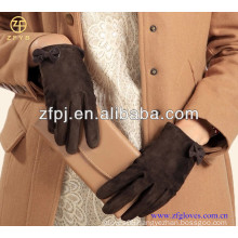 ZF4005 Fashion Lady pig grain leather gloves