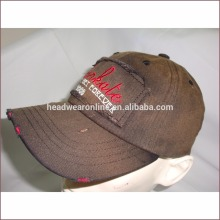 100% cotton Wholesale Enzyme Washed Distressed Baseball Cap with embroidery LOGO