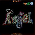 Colorful Angel rhinestone transferences motif à gros