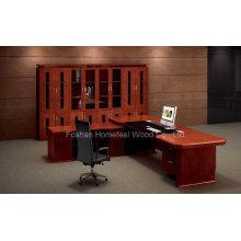 Mesa de escritório de alta qualidade Fabricação de mesa executiva de madeira de chefe (HF-LTA003)