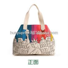 Sacs fourre-tout en toile sac à main sac à main / Sac sac d'étudiant / La statue de la liberté sac de toile-1089