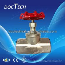 Venda quente rosca NPT/BSP/BSPT/thread inox globo válvula CF8M/CF8 feitas na China 200WOG