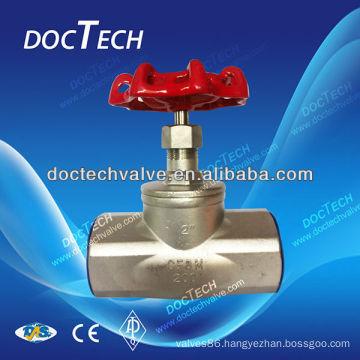 Hot Sale BSP/BSPT/NPT Screw /Thread Stainless Steel Globe Valve CF8M/CF8 Made In China 200WOG