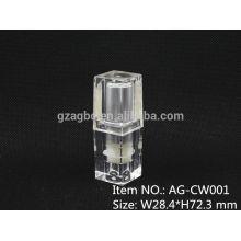 AG-CW001 petit et exquis Quadrate cas de rouge à lèvres en plastique Transparent