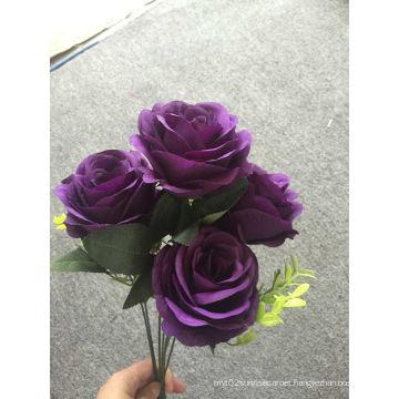 Purple Seven Rose Bouquet Decorative Artificial Flowers