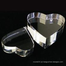 Concessão de cristal K9 alta qualidade cristal coração em branco