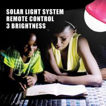 Lámpara de lectura solar camping kit de luz, solar iluminación interior del hogar con energía solar