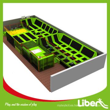Fábrica producida trampolín barato 4 pistas para ventas con diseño personalizado