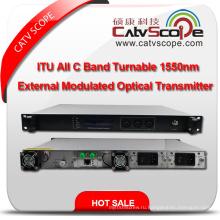 Профессиональный поставщик Высокая производительность Itu All C Band Turnable CATV 1550nm внешний модулированный оптический передатчик лазера