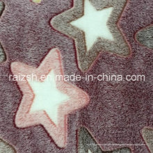 Caulking Coral Fleece geprägtes Star Customized Embossed Fleece Stoff