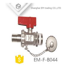"""EM-F-B044 Válvula de bola de níquel de latón de 1/2 """""""
