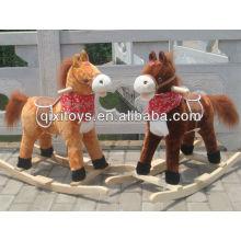 childern animal rider toy brown plush rocking horse