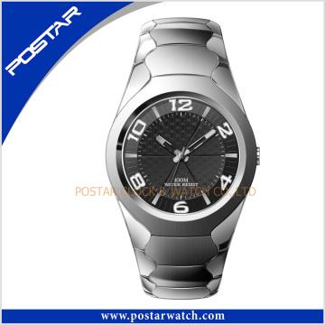 Shenzhen Mmanufacturer último reloj de acero de tungsteno de cuarzo con buena Qualtiy