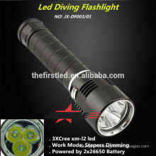 Jexree Aluminum Alloy Rechargeable cree xm-l2 led Diving Light