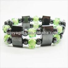 01B5003-2 / novos produtos para 2013 / hematita spacer pulseira de jóias / bracelete de hematita / pulseiras de saúde hematita magnética