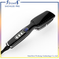 Escova cerâmica profissional para cabelo e tela de temperatura LCD