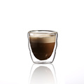 wholesale borosilicate heat resistant double wall glass tea coffee milk cup