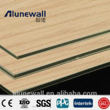 2017 hot selling customized poder coating Wood texture Aluminium Composite Panel Chinese manufacturer