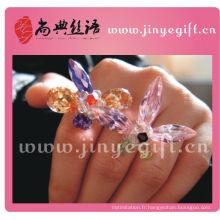 Le meilleur bijou coloré à la main de diamant mignon bague