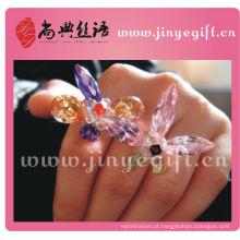 Melhor joalharia artesanal colorido anel de diamante bonito