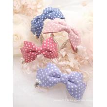 Bandeau en épingle à cheveux doux bleu / rose BJD pour poupée SD / MSD / YOSD