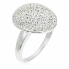 Pave Set Cubic Zirconia Rings in 925 Sterling Silver Jewelry