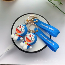 Porte-clés en caoutchouc Doraemon personnalisé