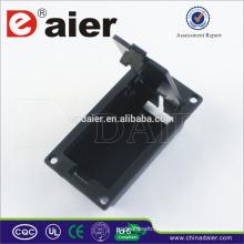 Daier 9v battery black case with cover 9v battery holder