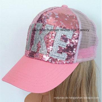 Sequins Stickerei Sport Cap Baseball Cap Mesh Hat