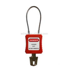 Approve CE Resistant impact,corrosion,heat ABS plastic professional keyed to master&alike cable safety padlock