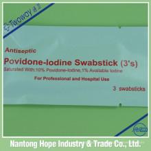 Povidone Iodine Swabstick 3 piezas por paquete