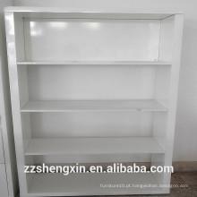 4 Tiers Book Rack Estante branca alta prateleira de madeira sólida