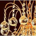 Pequeño y único candelabro de cristal de oro antiguo hecho en China LT-70033