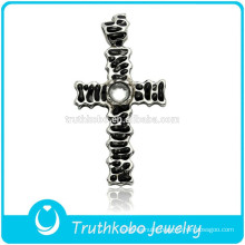 2016 Online Shop Antique Cross Stainless Steel Jewelry 4 Way Cross Prayer Pendant