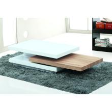 tables basses modernes de luxe en verre blanc