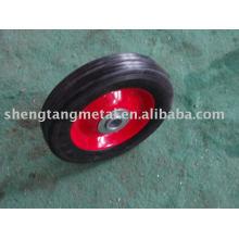 rueda de goma maciza