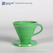 Green Painting Restaurant verwendet Fine Porzellan Drain Cup