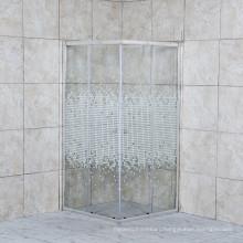 Morden Design Black Framed Corner Entry Sliding Door Shower Rooms