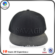 cheap price blank leather strap back hat