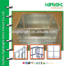 zinc plated wire pallet storage container