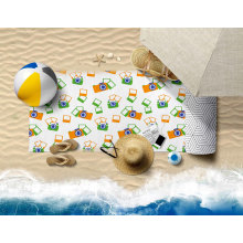 OEM Wholesale Custom Water Absorbent Breathable High Quality Quick Dry Sand Free 100% Polyester Beach Towel