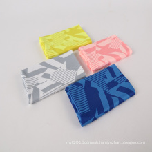 Printed Stretch Mesh Fabric Paper Printed 95% Polyester 5% Spandex Dry Fit Mesh Fabric For Sportswear