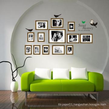 Commemorate Waterproof Vinyl Diy Room Decor Photo Frame Wall Sticker Decoration