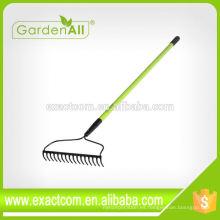 Material de acero de la cabeza del rastrillo de jardín del fan de 9-Teeth