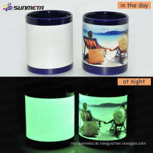 Sunmeta 11oz Sublimation Magic Luminous Mug Bei niedrigem Preis Wholsale