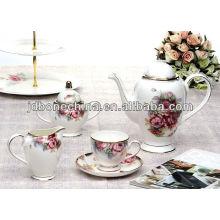 new arrivals eco-friendly fine bone china coffee table set